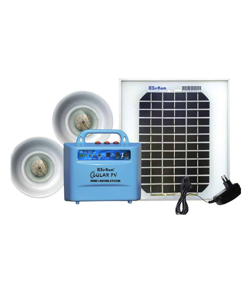 Su-kam Solar Home Lighting System/Emergency Light with Panel ...