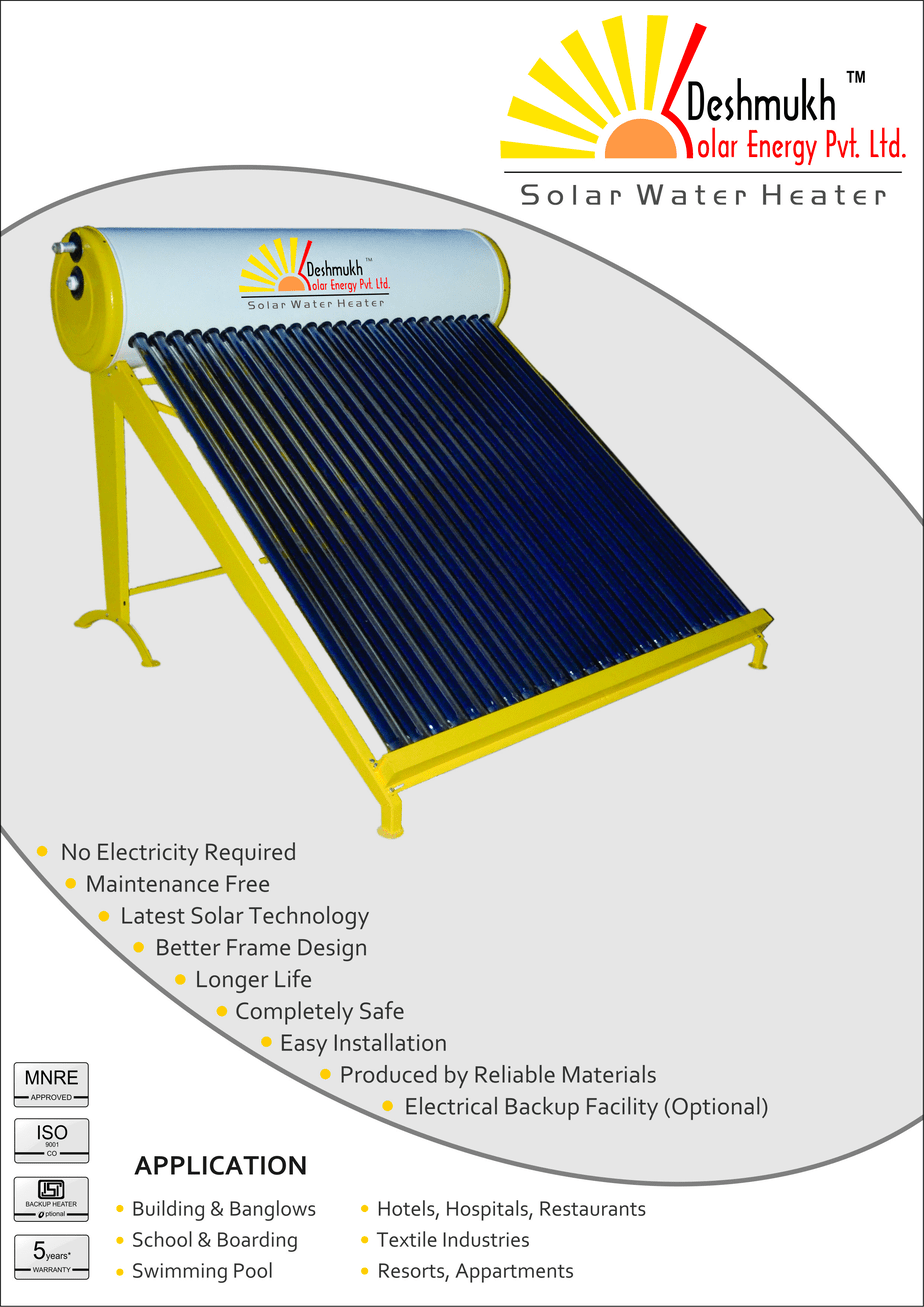 solar water heater 100 lpd evacuated tube collector system with gi tank. Black Bedroom Furniture Sets. Home Design Ideas